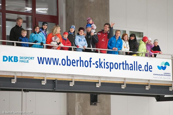 Besucherbalkon in der DKB SKISPORT HALLE