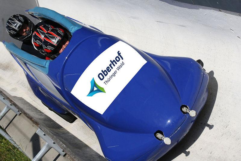 Sommerbob auf der Rennschlitten- und Bobbahn Oberhof