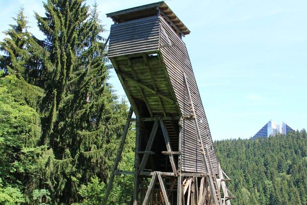 historische Schanzenanlage in Oberhof