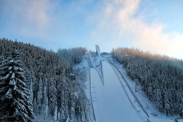 Schanzenanlage im Kanzlersgrund im Winter