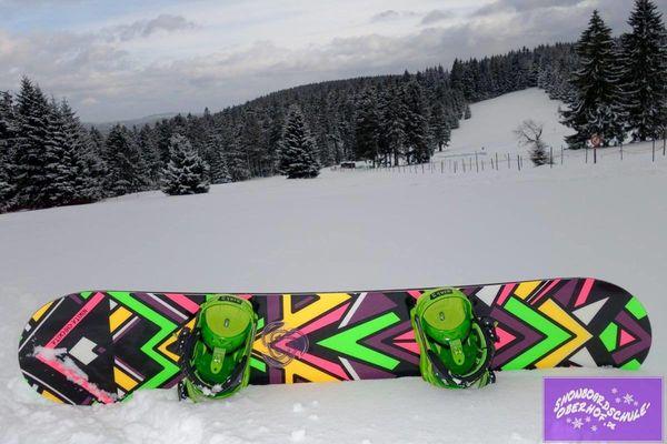 Snowboard an der alten Golfwiese
