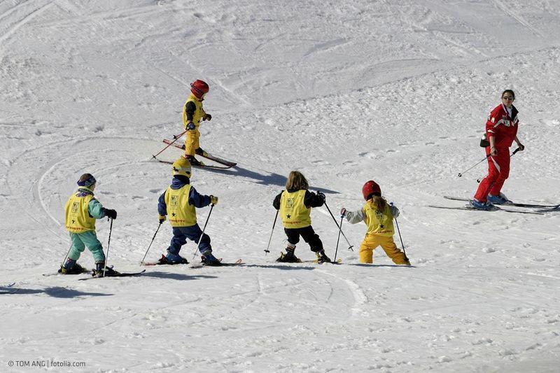 Skischule mit Kindern