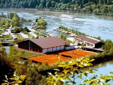 Blick auf das Donausportzentrum in Obernzell