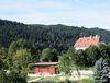 Blick über den Schlossgarten zum Schloss Obernzell