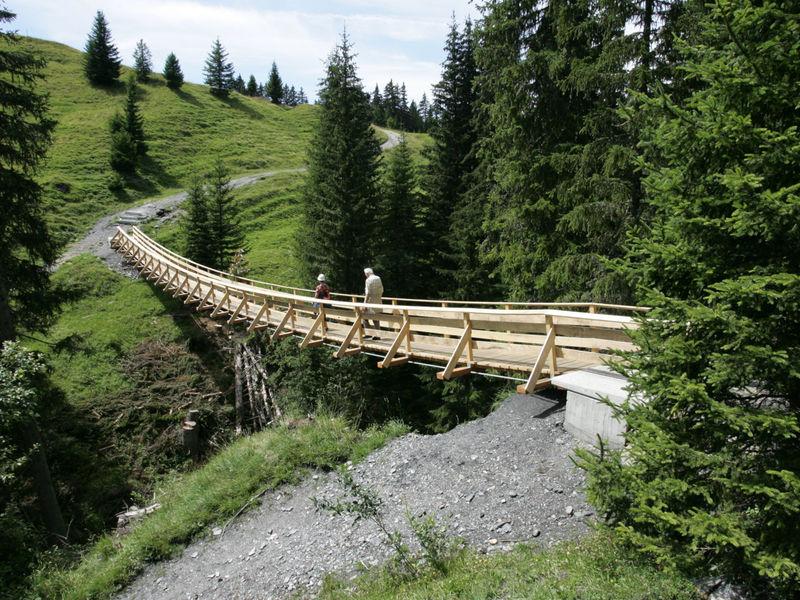 Hängebrücke Imschlacht, Obersaxen