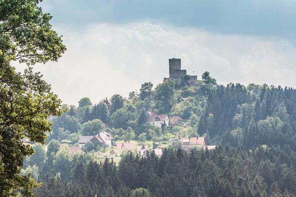 Burgruine Haus Murach bei Oberviechtach im Oberpfälzer Wald.