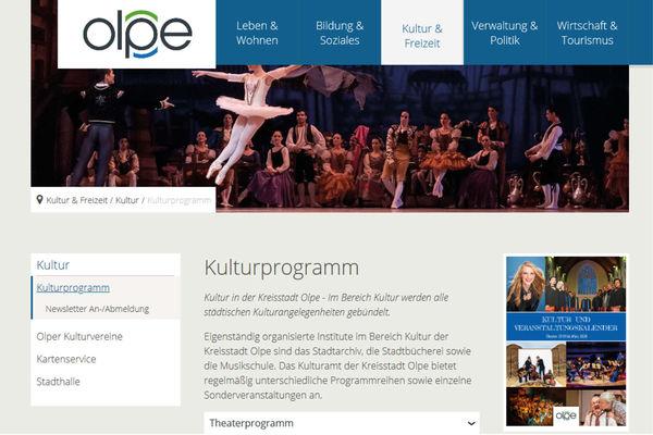 Homepage Stadt Olpe