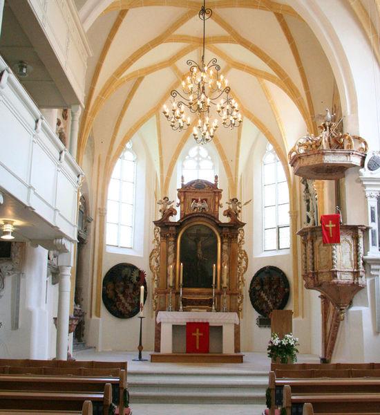 Chorraum der Marktkirche Ortenburg