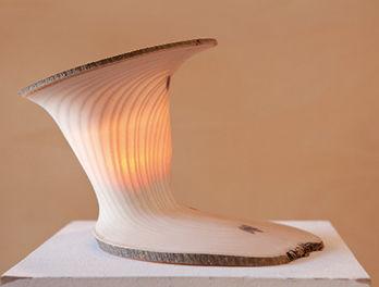 Holz Design Skulptur von Christian Masche, Foto: Julia Otto