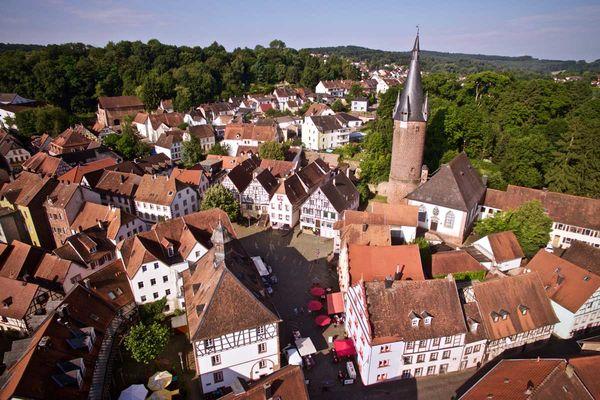 Altstadt Ottweiler von oben