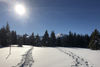 Schneeschuhlaufen auf Tratza