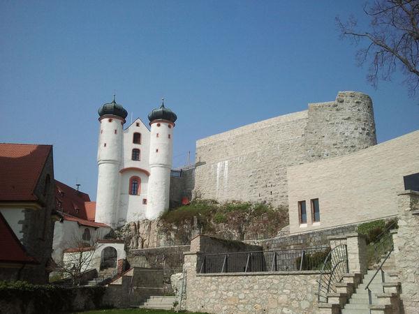 Das Areal der Burg Parsberg