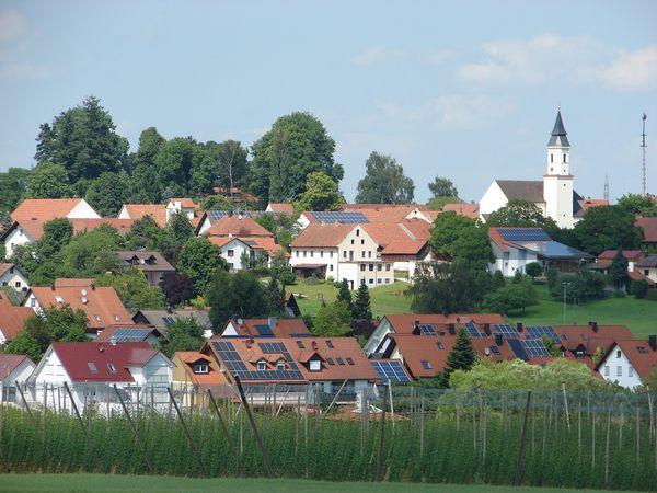 Ansicht von Paunzhausen von Südwest