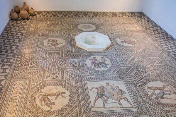 Ansicht Römisches Mosaik Nennig