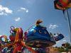 Erlebnis für die Jungen im Vergnügungspark beim Perlesreuter Schmalzlerfest im Bayerischen Wald