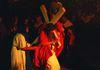 Jesus beim Kreuzgang bei den Perlesreuter Passionsspielen
