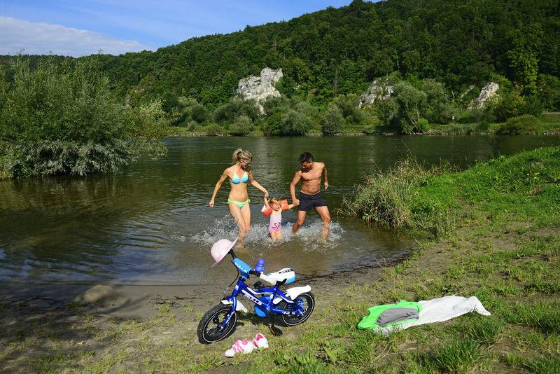Donau-Flussbadespaß für Wasserratten