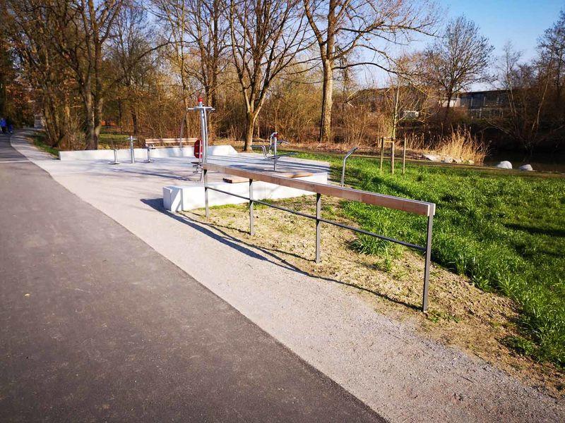 Der Bewegungsparcours an der Mühlbachpromenade