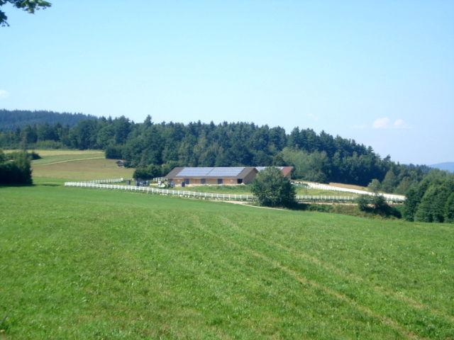 Blick auf die Mulberry-Ranch in Prackenbach im Viechtacher Land