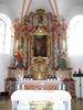 Der Hochaltar in der Pfarrkirche ST. GEORG in Prackenbach