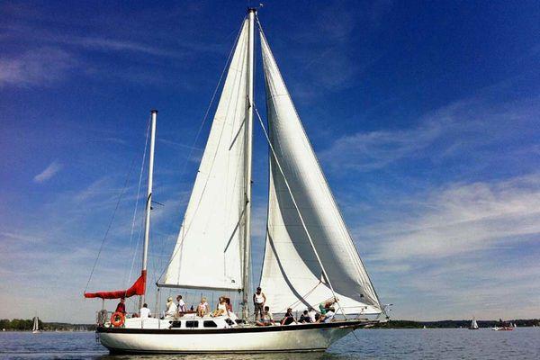 Stella Bavaria: Das größte Segelschiff auf dem Chiemsee.