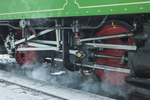 Chiemseebahn mit Dampfantrieb