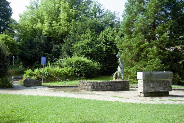 Kurpark Prien mit Brunnen