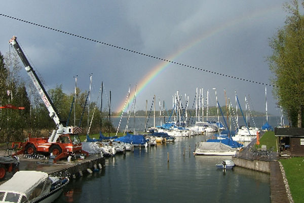 Seglerhafen Harras am Chiemsee.