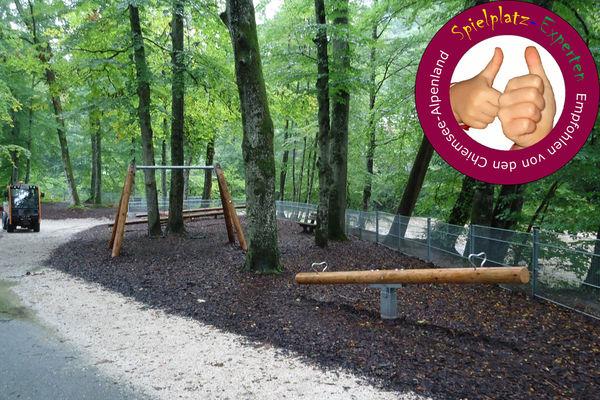 Spielplatz Eichental Schaukel und Wippe