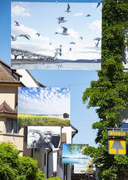 """""""aufgehängt & hochgesehen"""" in der Seestraße"""