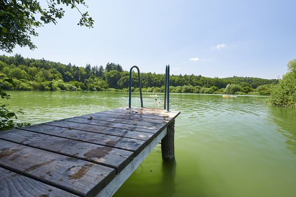 Badesteg am Buchensee bei Güttingen