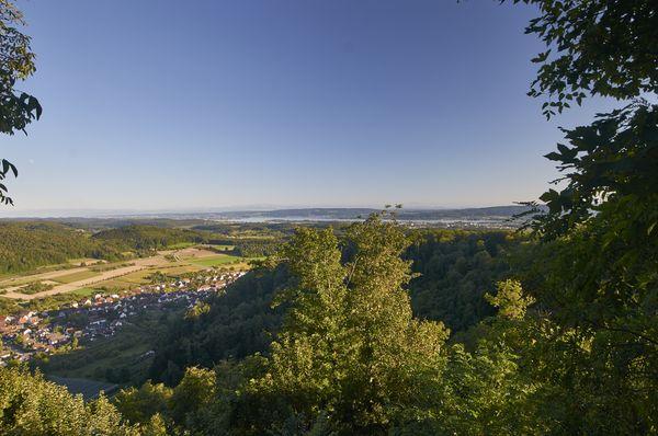Blick von der Homburg Richtung Radolfzell und Untersee