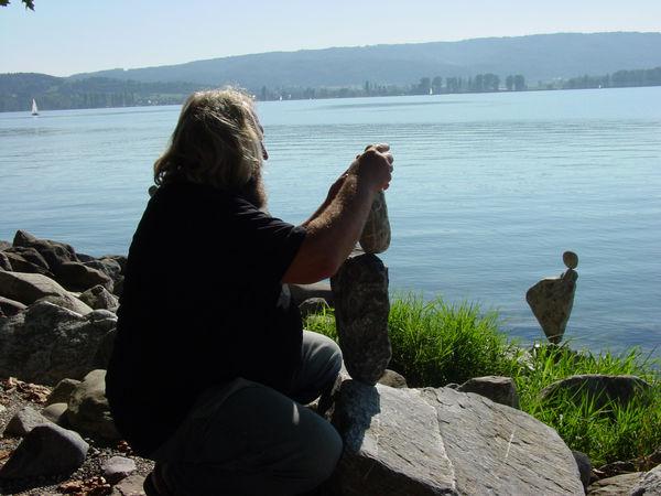 Steinekünstler Sepp Bögle
