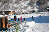 The ski lift at the edge of Randa is an ideal practice area for beginners and children.