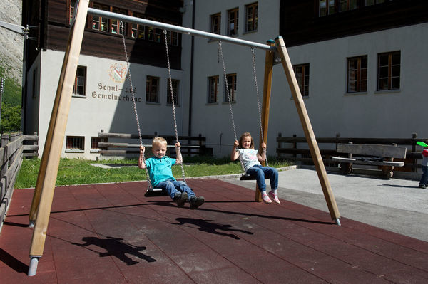The playground near the school offers a wide range of activities for children and families.