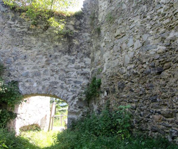 Mauerreste der Burg Neurandsberg bei Rattenberg im Bayerischen Wald