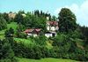 Blick auf die Wallfahrtskirche Neurandsberg bei Rattenberg im Bayerischen Wald