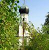 Turm der Wallfahrtskirche Neurandsberg bei Rattenberg im Bayerischen Wald