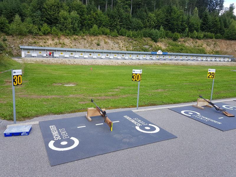 Biathlon für Jedermann am Großen Arber im Bayerischen Wald.