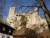 Die Burgruine Weißenstein auf dem Quarzfelsen des Pfahl bei Regen im ARBERLAND Bayerischer Wald