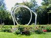 Der Gläserne Knoten im Kurpark der Kreisstadt Regen im Bayerischen Wald