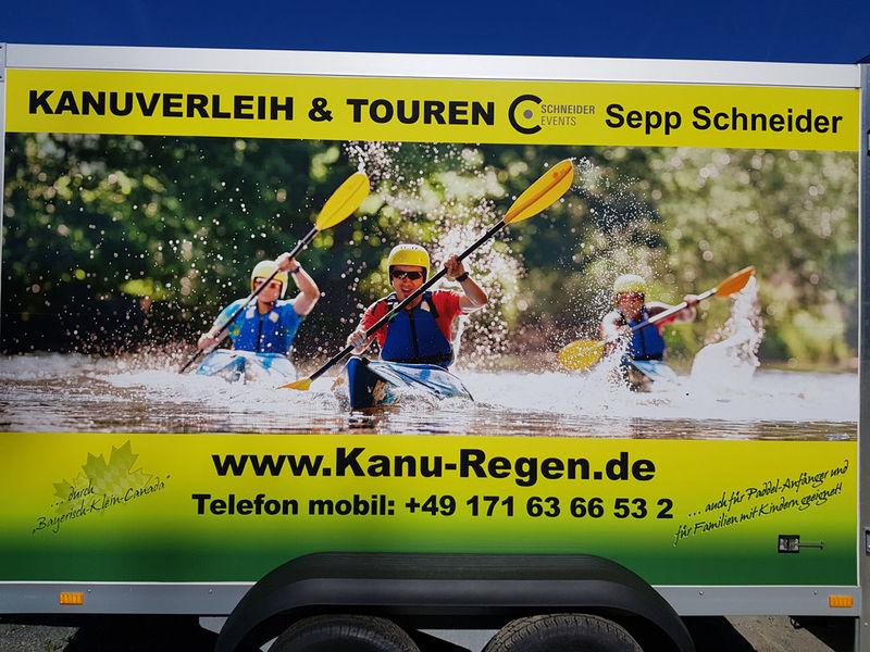 Kanu-, Kanadier- und Bootsverleih Sepp Schneider im Bayerischen Wald.
