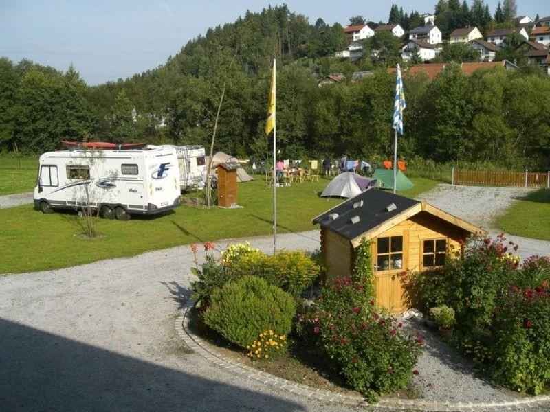 Der Campingplatz in der Kreisstadt Regen
