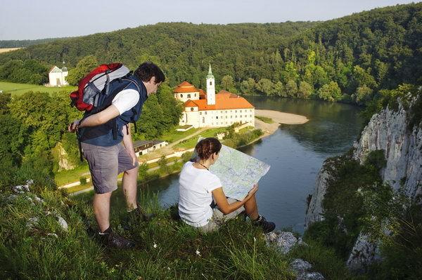 Blick auf Kloster Weltenburg