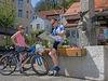 Rast vom Radeln in Falkenstein am Brunnen
