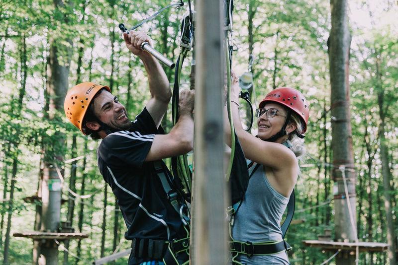 Partnerparcours im Kletterwald Regensburg
