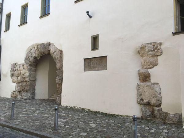 Die Porta Praetoria an der Nordseite des Bischofshofs