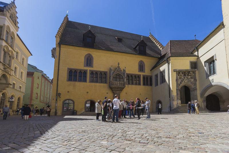 Tourist Information am Rathausplatz in Regensburg