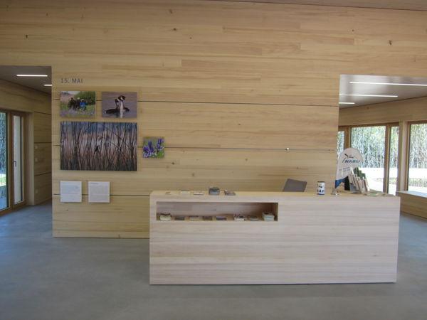 NABU-Bodenseezentrum Ausstellung Tresen