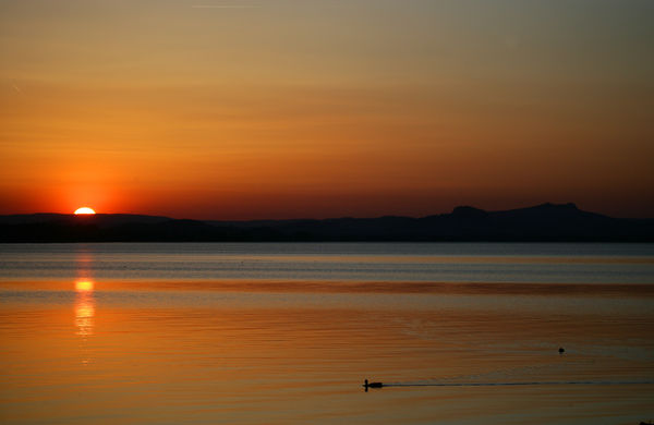 Sonnenuntergang im Hegau